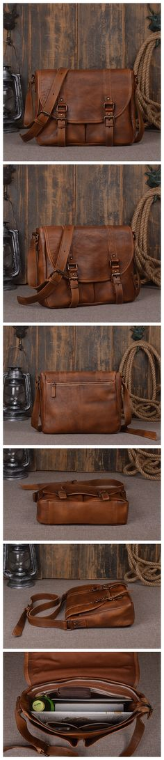 "Model Number: 9042 Dimensions: 13""L x 3.1""W x 10.6""H / 33cm(L) x 8cm(W) x 27cm(H) Weight: 2.4 lb / 1.1kg Hardware: Brass Hardware Shoulder Strap: Adjustable & Removable Color: Vintage Dark Brown Featu"
