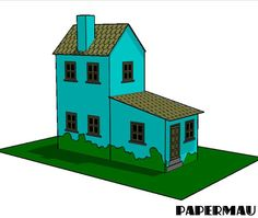 PAPERMAU: Simple Miniature House Paper Model - by Papermau - Download Now!