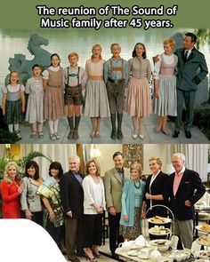The reunion of The Sound of Music family after 45 years. Why is it that Julie Andrews looks better than some of the kids? ^Because Julie Andrews is a time lord. Cinema Tv, Films Cinema, I Love Cinema, Julie Andrews, Movies Showing, Movies And Tv Shows, Sound Of Music Family, Sound Music, Music Film