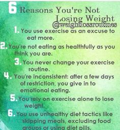Reasons you're not losing weight | Posted By: AdvancedWeightLossTips.com