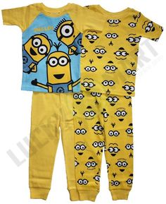 Set De 2 Pijamas Minions P/niño De Manga Corta Varias Tallas - $ 790.00 en MercadoLibre