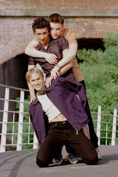 Aiden Gillen with Craig Kelly and Charlie Hunnam in Channel 4's Queer As Folk
