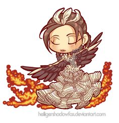 Commission: Chibi Katniss by Blatterbury on DeviantArt Hunger Games Cast, Hunger Games Trilogy, Saga, Chibi Characters, Fictional Characters, President Snow, I Volunteer As Tribute, Catching Fire, Mockingjay