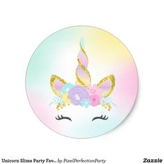 Shop Unicorn Slime Party Favor Tag Sticker Slime Party created by PixelPerfectionParty. Beach Party Games, Tween Party Games, Bridal Party Games, Unicorn Themed Birthday Party, Birthday Party Themes, Party Favor Tags, Party Favors, Creation Bougie, Paw Patrol