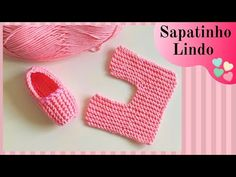 SAPATINHO DE TRICÔ FÁCIL PARA INICIANTES - YouTube Diaper Cover Pattern, Knit Shoes, Crochet Slippers, Easy Knitting, Headbands, Baby Shower, Youtube, How To Knit, Knit Slippers