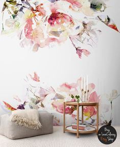 Frühlings-Blumen abnehmbare Tapeten lösbaren von loveCOLORAY