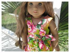 American Girl Doll 18 Inch Doll Wrap Dress for by BonJeanCreations