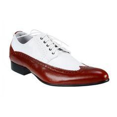 Pánske kožené extravagantné topánky biele PT062 - manozo.hu