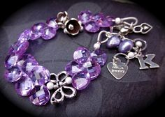 lavendar cubic zirconia and sterling custom bracelet by Camba Jewelry