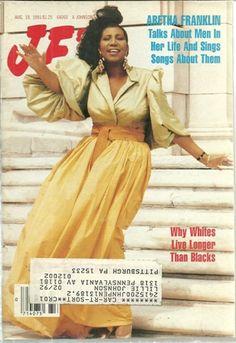 Aretha Franklin On Magazine Covers | Jet Magazine,Aug 19,1991 Vol 80,No.18 Aretha Franklin