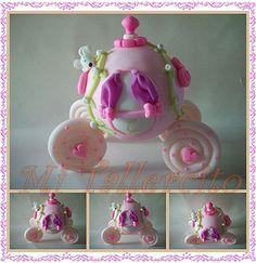 carroza cenicienta princesas porcelana fria