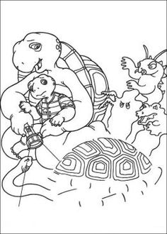 Franklin The Turtle Free Kids Coloring Pages Colouring Pictures To Print