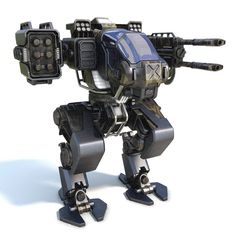 Military robots set 4in1 3D model - TurboSquid 1243361