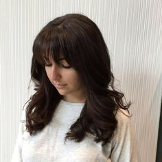 30 Sexiest Wispy Bangs You Need to Try in 2019 - Style My Hairs Short Hair Long Bangs, Long Layered Hair, Long Hair Cuts, Short Spiky Hairstyles, Straight Hairstyles, French Braided Bangs, Bangs For Round Face, Evening Hairstyles, Wispy Bangs