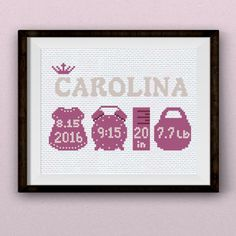 Cross Stitch Kits Girl Birth sampler stitch pattern pdf The ''Little Princess'' birth sampler is one of our favorite.Baby birth annoucement is always joyous occasion. Preserve the memory of a wonderful moment with this baby cross stitch pattern. Cross Stitch Heart, Cross Stitch Kits, Cross Stitch Designs, Learn Embroidery, Cross Stitch Embroidery, Little Princess, Princess Birth, Cross Stich Patterns Free, Embroidery Designs