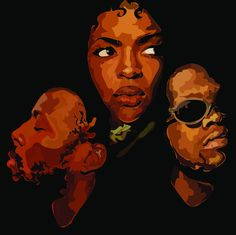 """angelachilufya: """"Fugees been listening to them for the last few weeks thought I'd so some sort of tribute piece thing """""""