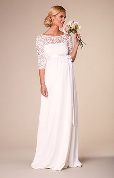 Lucia Maternity Wedding Gown Long Ivory by Tiffany Rose