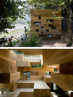 Sou Fujimoto Architects, Japan, Wooden House (Exterior and interior)