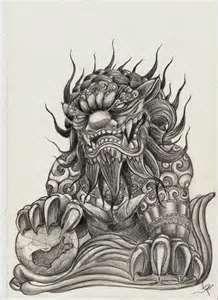 Devil Dog Tattoo Pvt Daniels Fu Tattoos Two Bull Asian Tattoos, Trendy Tattoos, Cool Tattoos, Chinese Tattoos, Awesome Tattoos, Foo Dog Tattoo Meaning, Tattoos With Meaning, Lion Meaning, Head Tattoos