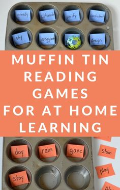 Grab a muffin tin and play these super easy and fun learning games!