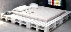 Bed made from pallet