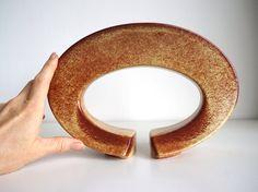 Vaso modernista Bertoncello screziato ceramica di RosaGeranio