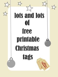 lots and lots of assorted free printable Christmas gift tag sets