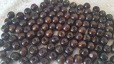 60 perles en bois