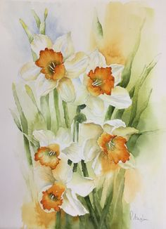 Learn Watercolor Painting, Watercolor Pictures, Plant Painting, Watercolor Paintings Abstract, Watercolor Artists, Watercolor Flowers, Watercolors, Abstract Painting Techniques, Botanical Art