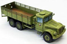 Tatra 111 Truck Ver.7 Free Vehicle Paper Model Download