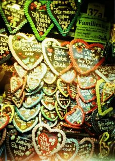 Gingerbread hearts at Oktoberfest