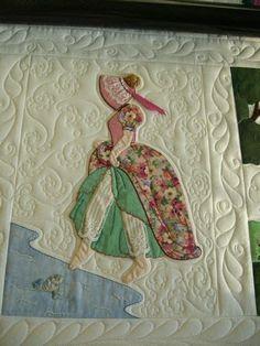 Image result for Bonnet Girl Applique Quilt Block