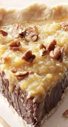 Coconut-Pecan German Chocolate Pie Recipe