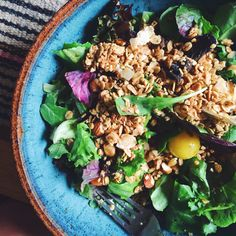 Your breakfast salad called. It wants to get up close-and-personal with granola.