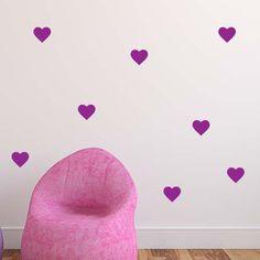 4 Pi/èces D/écalques Muraux Motif de Licorne Stickers Muraux D/écoratifs avec Motif de Coeur /Étoile Fleur Fournitures de F/ête pour Enfants Chambre Anniversaire No/ël