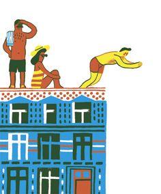 Série d'illustrations pour la revue BRUXXL de août-septembre 09