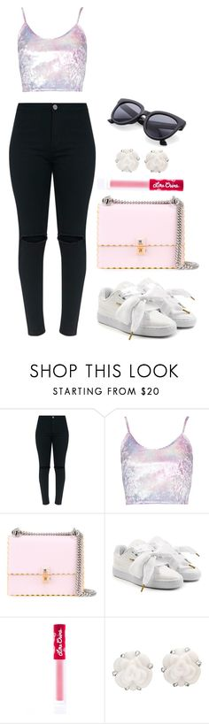 """""""Untitled #483"""" by alibasicamina ❤ liked on Polyvore featuring Fendi, Puma, Lime Crime and Chanel"""