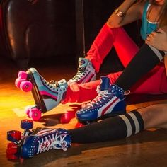 SKATE~Rio Roller quad skates have been popular for years and years. Whether that's people finding fun ways to get fit, or the increase of roller discos,. Rio Roller, Roller Disco, Roller Derby, Roller Skating, Pink Roller Skates, Quad Skates, Lets Roll, Sneakers Nike, Rollers