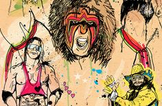 Ben Tallon Illustration has over 20 years experience in illustration, lettering and mixed media, Ben has his own unique style that can be applied to any type of project. Hand Craft Work, Wwe, Illustration, Legends, Vibrant, Kids, Crafts, Fictional Characters, Design