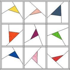 Floating triangles tutorial. This would make a great quilt for the guestroom!