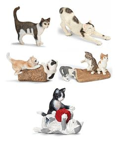 Look at this Cat Figurine Set on #zulily today!