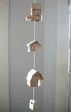 little paper houses.
