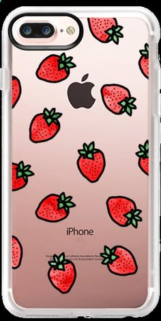 Phone Cases - Casetify iPhone 7 Plus Case and other Strawberry iPhone Covers - Strawberries by Kailey Flyte | Casetify