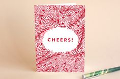 Red Floral Wishes Holiday Cards by Phrosne Ras Holiday Cards, Christmas Cards, Holidays And Events, Independence Day, Christmas Holidays, Wish, Product Launch, Valentines, Patterns