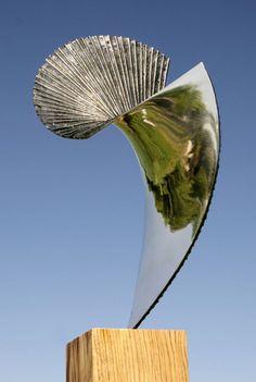 Bronze Abstract Public Art sculpture by artist Thomas Joynes titled: 'Eclipse (Bronze Abstract Garden Sculptures)' £2334 #sculpture #art