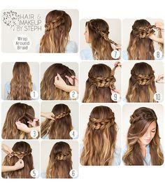Полураспущенные волосы с косами