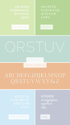 breanna rose / favorite web fonts