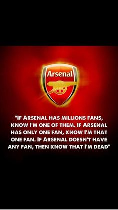 Oh arsenal we love you