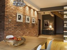 Brick Cladding, Home & Garden Services Service Available in Ballincollig, Cork Living Room And Dining Room Design, Living Room Designs, Brick Interior, Home Interior Design, Home Decor Bedroom, Home Decor Furniture, Casa Pop, Brick Cladding, Bedroom False Ceiling Design