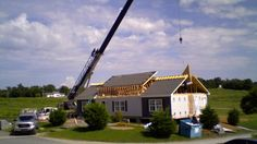 Corey's Construction Model home. Building in Modular in Maryland, Virginia, West Virginia and Pennsylvania Model Homes, West Virginia, Construction, Mansions, House Styles, Building, Home Decor, Mansion Houses, Room Decor